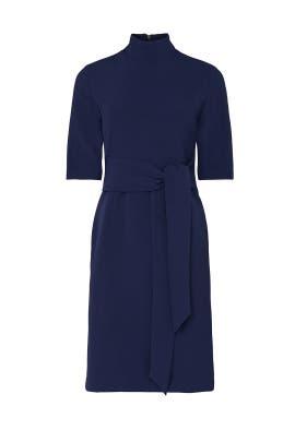 Blue Tie Waist Dress by Toccin