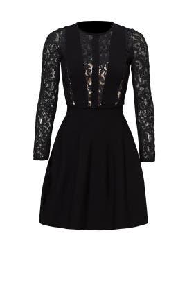Black Lace Reed Dress by Blumarine