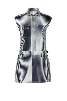 Striped Button Down Sleeveless Dress by Current/Elliott