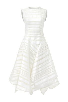 White Flag Dress by Christian Siriano