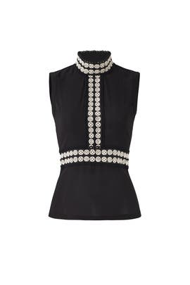Black Embroidered Top by Cut 25