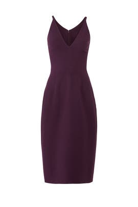 Plum Lyla Sheath by Dress The Population