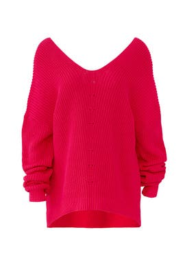 High Low V-Neck Sweater by 525 America