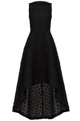 Black Sparkle Dot Dress by Hunter Bell