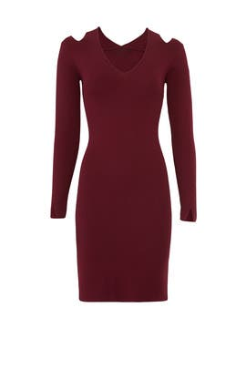 Burgundy Veronica Dress by John + Jenn