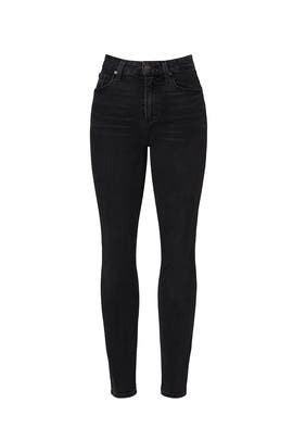 Black Sarah Slim Jeans by PAIGE