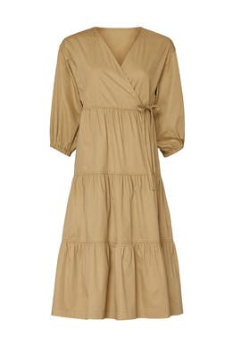 Taupe Wrap Dress by Sweet Baby Jamie