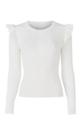 White Sloann Sweater by Cinq à Sept