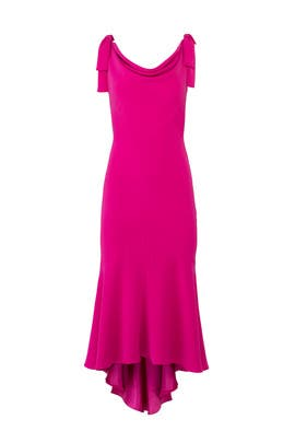 Tied Fuchsia Dress by Carmen Marc Valvo