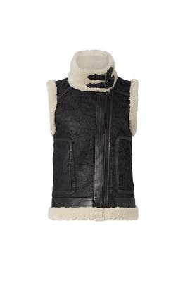 Danay Faux Fur Vest by Joie