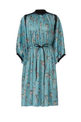 Floral Bat Sleeve Dress by Koché