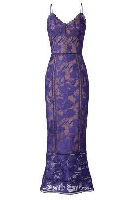 Purple Lace Dress By Marchesa Notte