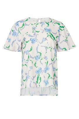 Brushstroke Floral Top by Prabal Gurung Collective