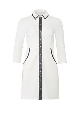 Faux Leather Trim Shirtdress by Slate & Willow
