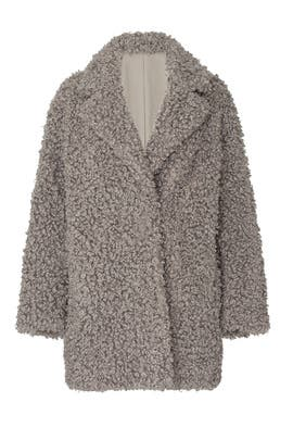 Faux Lamb Peacoat by Tibi