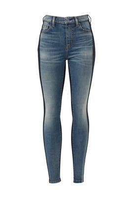 The Mashed High Waist Stiletto Jeans by Current/Elliott