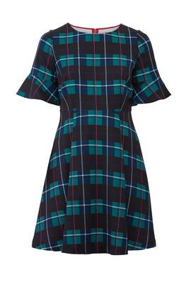 Plaid Print Flare Dress by Draper James X ELOQUII