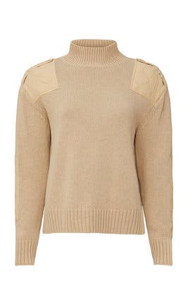 Mock Neck Patch Sweater by 525 America