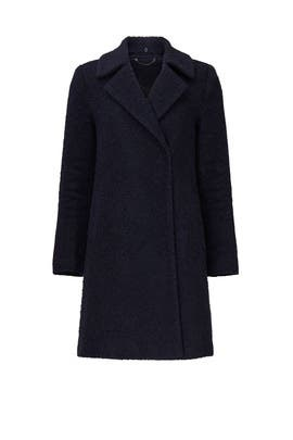 Navy Faux Trim Coat by Novelti