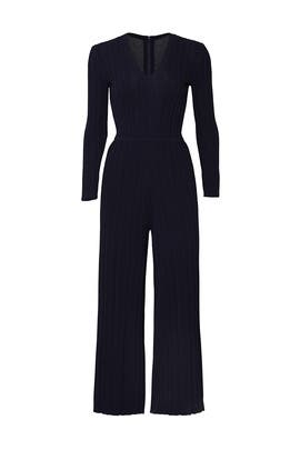 Navy Rib Jumpsuit by RACHEL ROY COLLECTION