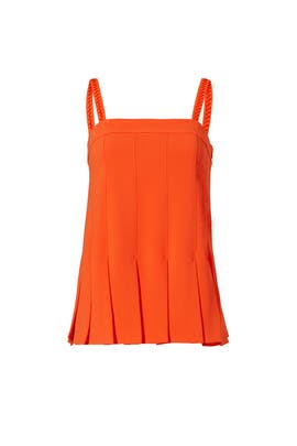 Orange Yelina Top by Trina Turk