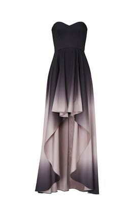 Black Ombre High Low Gown by Badgley Mischka