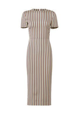 Paxon Stripe Brick Dress by Diane von Furstenberg