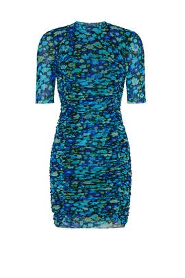 Printed Mesh Dress by GANNI