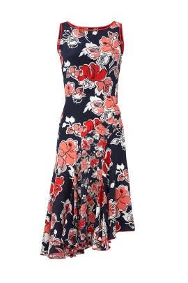 Floral Asymmetric Dress by Jason Wu