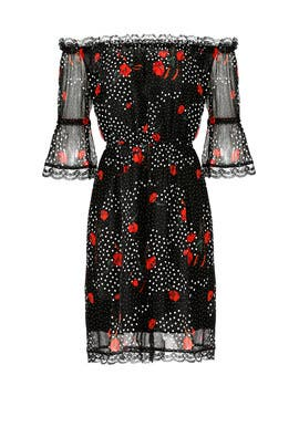 Black Popi Print Dress by The Kooples