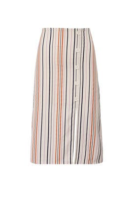 Striped Button Skirt by Louna