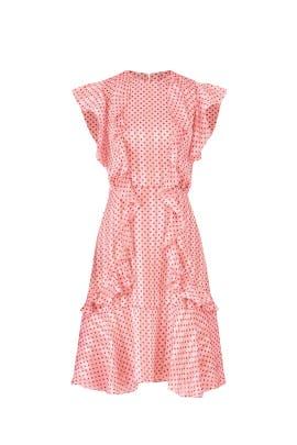 Pink Polka Dot Dress by ML Monique Lhuillier