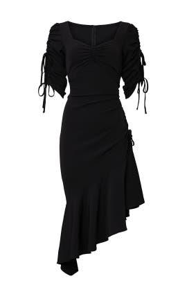 Black Asymmetric Hem Dress by Rodarte X Universal Standard