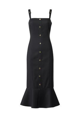 Black Camille Midi Dress by Rachel Zoe