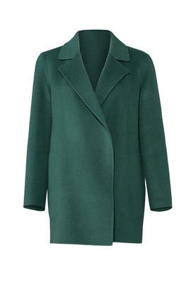 Green Clairene Coat by Theory