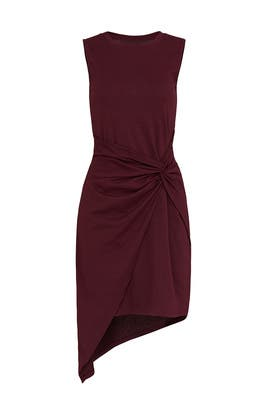 Burgundy Twist Front Dress by TROUVÉ