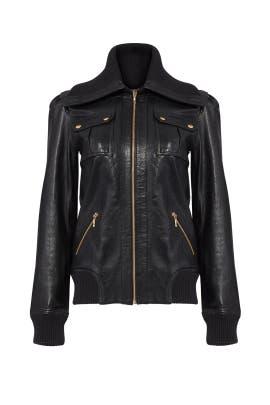 La Cienega Leather Jacket by Trina Turk