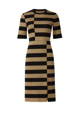 Offset Stripe Dress by DEREK LAM