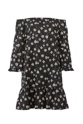 Printed Flare Sleeve Dress by ELOQUII