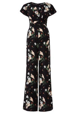 Adjustable Waist Floral Maternity Jumpsuit by Ingrid & Isabel