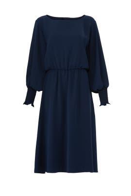 Navy Smock Sleeve Dress by Jay Godfrey