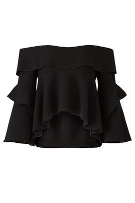 Black Frill Top by Nicholas
