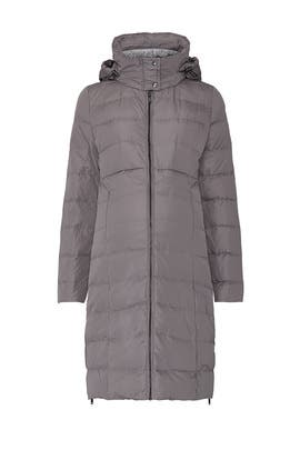 Taupe Anna Maternity Puffer Coat by Seraphine