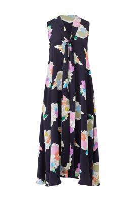 Navy Camellia Dress by Tibi