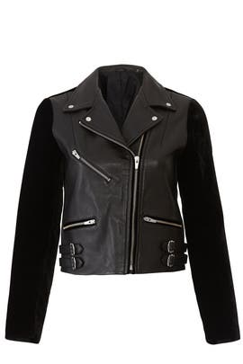 Velvet Puzzle Leather Jacket by VEDA