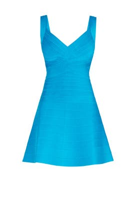 Turquoise Mayra Dress by Hervé Léger