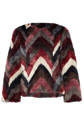 Jenna Faux Fur Jacket by Waverly Grey