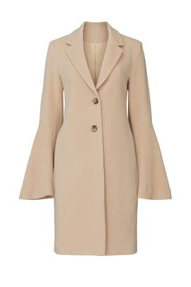 Camel Bell Sleeve Coat by Derek Lam Collective
