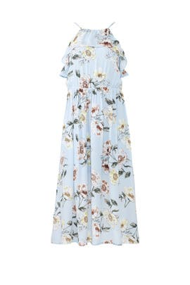 Floral Flutter Front Dress by Fleurtine