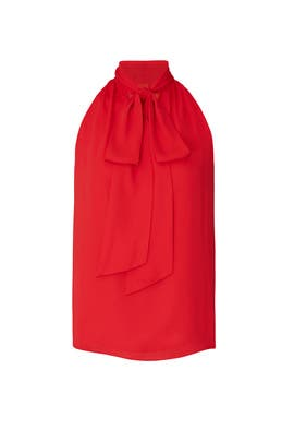 Cherry Tie Neck Blouse by Prabal Gurung Collective